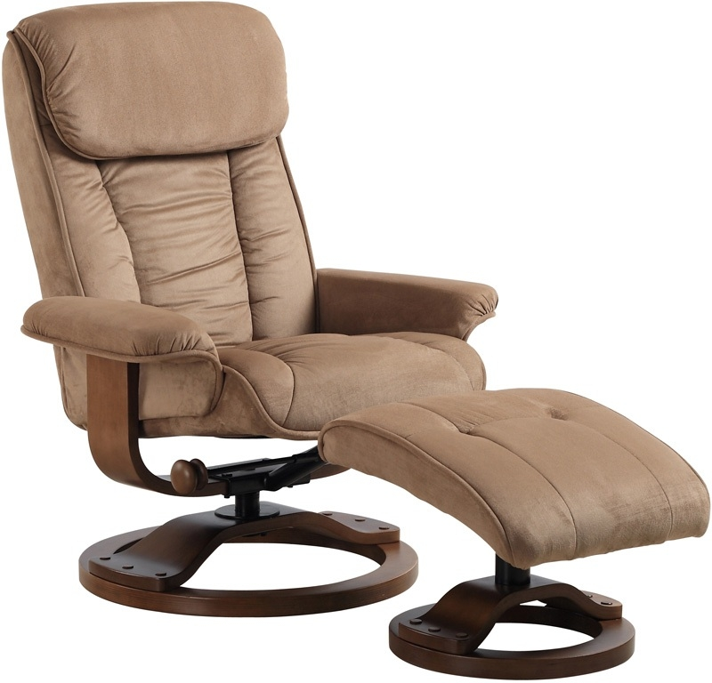 Attrayant MAC Motion Chairs 7151/639 08/103 2 Piece Swivel Recliner Mocha Microfiber  U0026 Walnut Finish