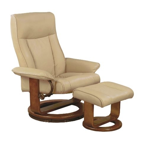 MAC Motion Chairs 7294/02/103 2 Piece Swivel Recliner Cobblestone PU U0026  Walnut Finish