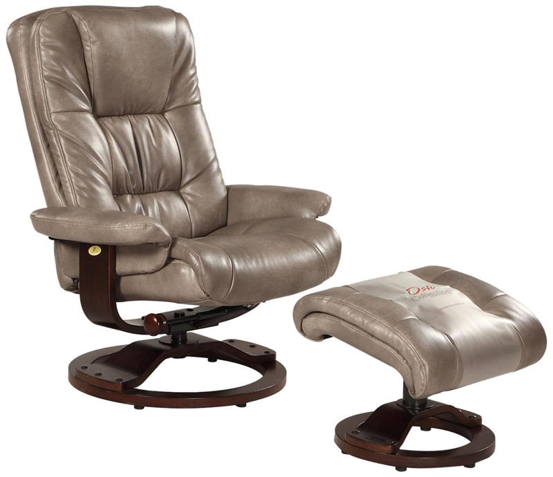 Oslo Casa 2 Piece Swivel Recliner Cloud Leather U0026 Alpine Finish By MAC  Motion Chairs CASA C