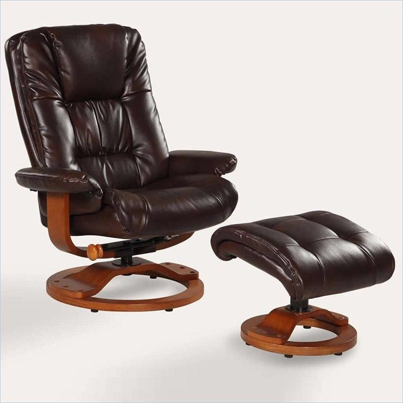 Oslo Casa 2 Piece Swivel Recliner Espresso Leather U0026 Walnut Finish By MAC  Motion Chairs CASA E