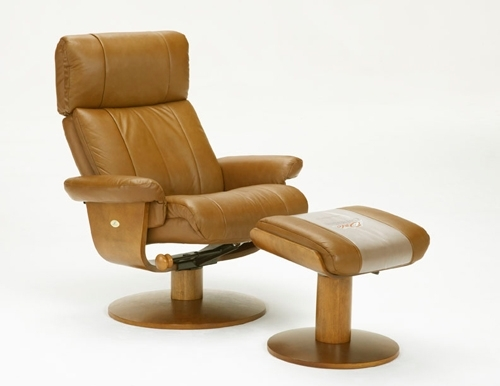 Ordinaire Oslo Nora Air Chamber Massage 2 Piece Swivel Recliner Saddle Leather /  Walnut Frame By MAC Motion Chairs ...