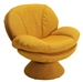 Swivel Leisure Comfort Chair in Yellow Rio Straw Fabric by MAC Motion Chairs PUB-110-UPH