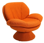 Swivel Leisure Comfort Chair in Orange Rio Owaga Fabric by MAC Motion Chairs PUB-120-UPH