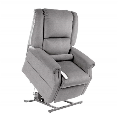 Felix Power Lift Chair Lay Flat Recliner in Dove Polyester by Mega Motion - NM-101