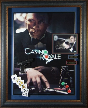 James Bond Casino Royale Daniel Craig Autographed Display