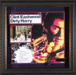 Dirty Harry Clint Eastwood Autographed Home Theater Display