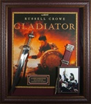 Gladiator Russell Crowe Autographed Home Theater Display