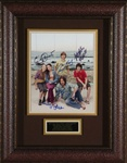 Hannah Montana Cast Signed Home Theater Display