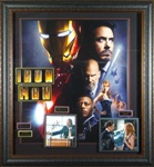 Iron Man Cast Autographed Home Theater Display