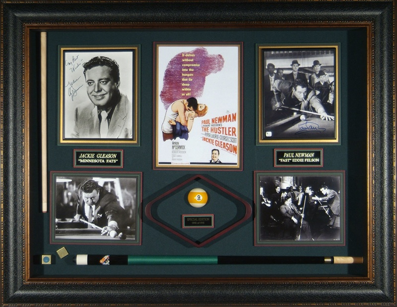 The Hustler Jackie Gleason Paul Newman Autographed Display