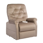 Otto Power Lift Chair Chaise Lounger Recliner in Camel Polyester by Mega Motion - NM-200-CA