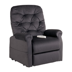 Otto Power Lift Chair Chaise Lounger Recliner in Charcoal Polyester by Mega Motion - NM-200-CHA