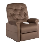 Otto Power Lift Chair Chaise Lounger Recliner in Chocolate Polyester by Mega Motion - NM-200-CHO