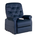 Otto Power Lift Chair Chaise Lounger Recliner in Navy Polyester by Mega Motion - NM-200-NV