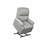 Pocono Power Lift Chair Chaise Lounger Recliner in Cement Polyester by Mega Motion - NM-2001-CEM