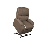 Pocono Power Lift Chair Chaise Lounger Recliner in Chocolate Polyester by Mega Motion - NM-2001-CHO