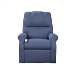 Pocono Power Lift Chair Chaise Lounger Recliner in Midnight Polyester by Mega Motion - NM-2001-MID