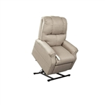 Pocono Power Lift Chair Chaise Lounger Recliner in Portobello Polyester by Mega Motion - NM-2001-PORT