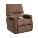 Polo Power Lift Chair Chaise Lounger Recliner in Java Polyester/Nylon by Mega Motion - NM-3250-JV