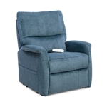 Polo Power Lift Chair Chaise Lounger Recliner in Lapis Polyester/Nylon by Mega Motion - NM-3250-LP