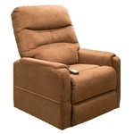 Tucson Power Lift Chair Chaise Lounger Recliner in Nutmeg Polyester by Mega Motion - NM-3601-NUT