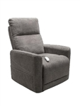 Saville Power Lift Chair Chaise Lounger Recliner in Grey Polyester by Mega Motion - NM-3602-GY