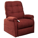 Popstitch Power Lift Chair Chaise Lounger Recliner in Chianti Polyester by Mega Motion - NM-4001-CHI
