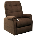Popstitch Power Lift Chair Chaise Lounger Recliner in Java Polyester by Mega Motion - NM-4001-JV