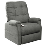 Popstitch Power Lift Chair Chaise Lounger Recliner in Pebble Polyester by Mega Motion - NM-4001-PB
