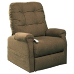 Popstitch Power Lift Chair Chaise Lounger Recliner in Tumbleweed Polyester by Mega Motion - NM-4001-TW