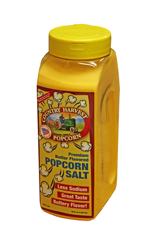 Country Harvest Premium Butter Flavored Popcorn Salt 32 Ounces Part 1028 By Paragon