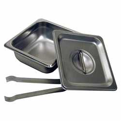 "2.5"" Steam Pan Set with Lid and Tongs by Paragon - PAR-5062S"