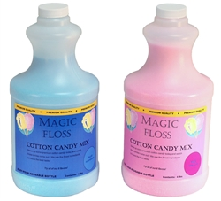 3 Bottles x 4lb Blue Raspberry & 3 Bottles x 4lb Pink Vanilla Cotton Candy Floss by Paragon 7980