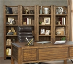 Allister 2 Piece Bookcase in Cognac Finish by Parker House - ALL-250P