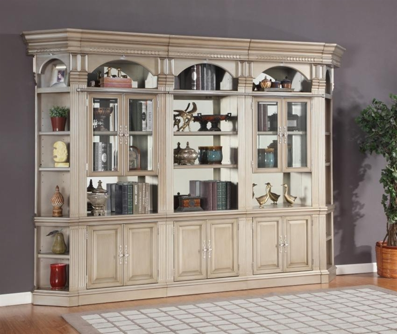 Marvelous Allure 5 Piece Bookcase Library Wall In Champagne Finish By Parker House    ALL#430 5
