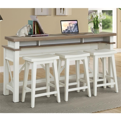 Americana Everywhere Console with 3 Stools in Cotton Finish by Parker House - AME#09-4-COT