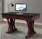 Americana Modern 56 Inch Power Lift Desk in Cranberry Finish by Parker House - AME#256-2-CRAN