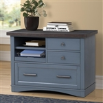 Americana Functional File Cabinet with Power Center in Denim Finish by Parker House - AME#342F-DEN