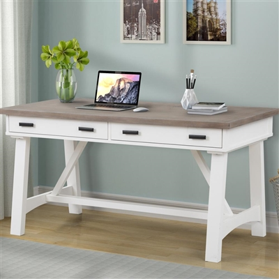 Americana Modern 60 Inch Writing Desk in Cotton Finish by Parker House - AME#360D-COT