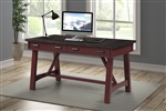 Americana Modern 60 Inch Writing Desk in Cranberry Finish by Parker House - AME#360D-CRAN
