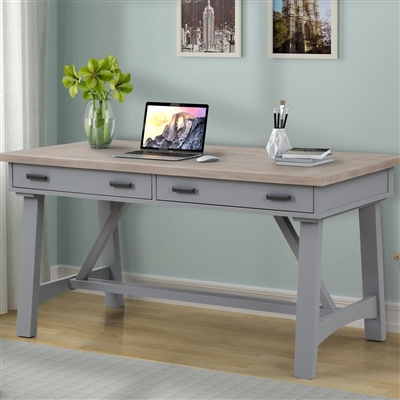 Americana Modern 60 Inch Writing Desk in Dove Finish by Parker House - AME#360D-DOV