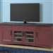 Americana Modern 76 Inch TV Console with Power Center in Cranberry Finish by Parker House - AME#76-CRAN