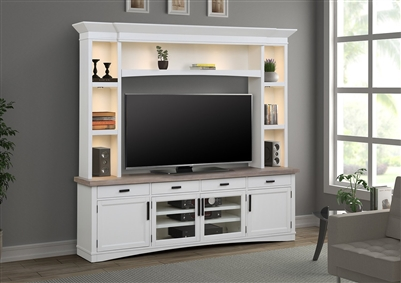 Americana Entertainment Center with LED Lights in Cotton Finish by Parker House - AME#92-3-COT