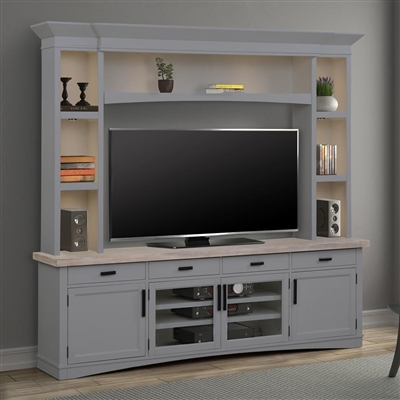 Americana Entertainment Center with LED Lights in Dove Finish by Parker House - AME#92-3-DOV