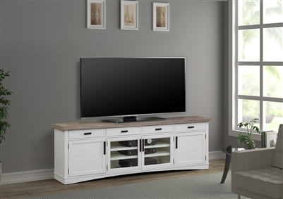 Americana Modern 92 Inch TV Console with Power Center in Dove Finish by Parker House - AME#92-DOV