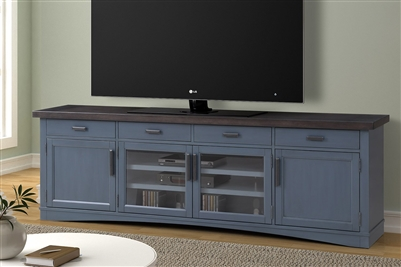 Americana Modern 92 Inch TV Console with Power Center in Denim Finish by Parker House - AME#92-DEN