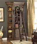 Aria 3 Piece Bookcase Display Cabinet in Antique Vintage Smoked Pecan Finish by Parker House - ARI-420-03