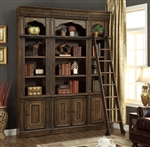 Aria 3 Piece Library Wall in Antique Vintage Smoked Pecan Finish by Parker House - ARI-430-03