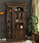 Aria 3 Piece Bookcase Display Cabinet in Antique Vintage Smoked Pecan Finish by Parker House - ARI-450-3