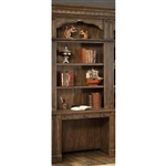 Aria 2 Piece Library Desk with Hutch in Antique Vintage Smoked Pecan Finish by Parker House - ARI-460-2